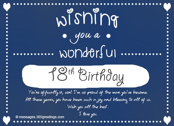 18th birthday wishes messages and greetings