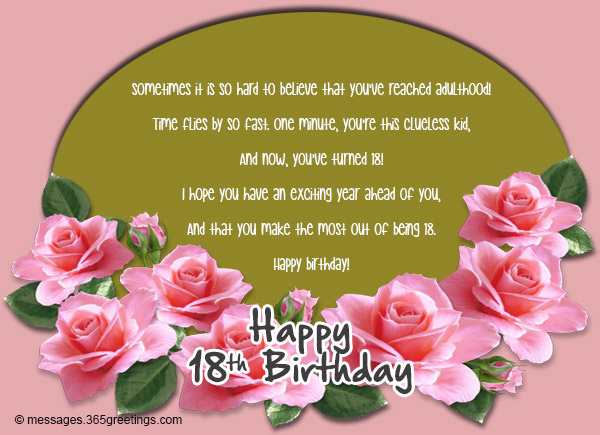 18th Birthday Wishes Messages and Greetings Messages Greetings – Birthday Greetings for 18th Birthday
