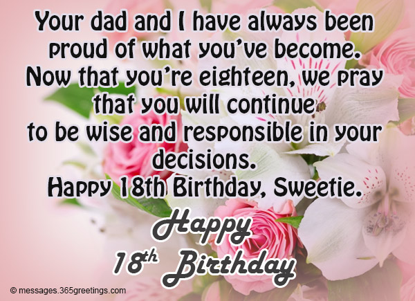 Quotes 18Th Birthday Simple 18Th Birthday Wishes Messages And Greetings  365Greetings