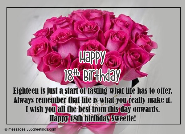 Quotes 18Th Birthday Gorgeous 18Th Birthday Wishes Messages And Greetings  365Greetings