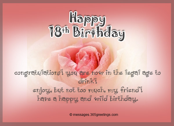 18th Birthday Wishes Messages and Greetings 365greetings – Friend Birthday Card Messages