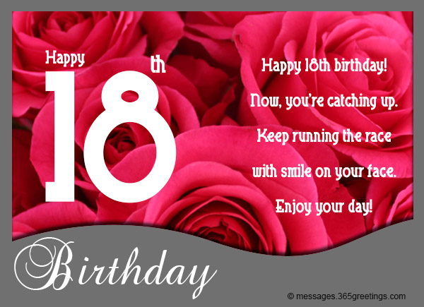 18th birthday wishes messages and greetings 365greetings 18th birthday sayings and card verses m4hsunfo