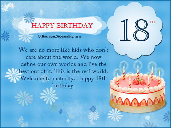 18th Birthday Card Messages, Happy 18th Birthday Messages