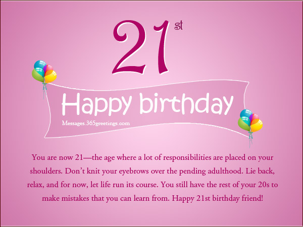 21st Birthday Messages