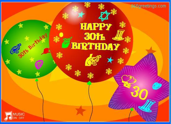 30th 2 365greetings Com 30th Happy Birthday Wishes