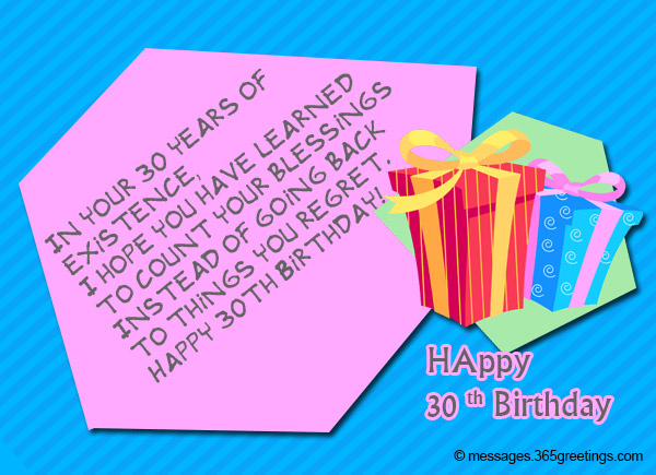 30th Birthday Wishes And Messages 365greetings Com Happy Birthday 30th Wishes