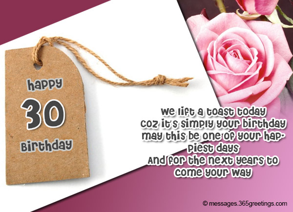 My Prayer Is That All The Decades Ahead Of You May Come With Every Good Tiding Life Can Offer Happy 30th Birthday