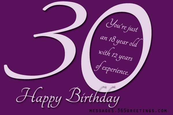 30th Birthday Wishes And Messages