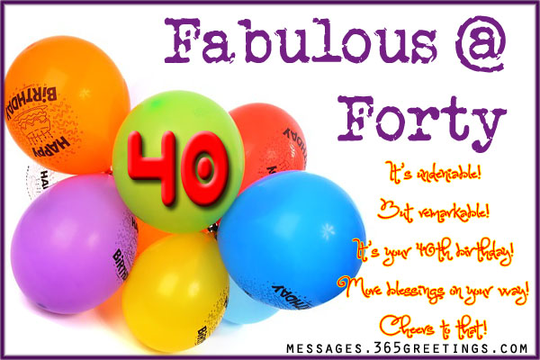 40th Birthday Wishes 365greetings – Happy 40th Birthday Greetings