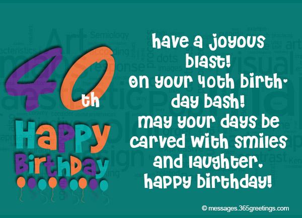 40th Birthday Wishes - 365greetings.com