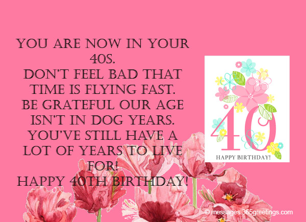 Happy 40th Birthday Wishes Www Imgkid Com The Image Happy 40th Birthday Wishes