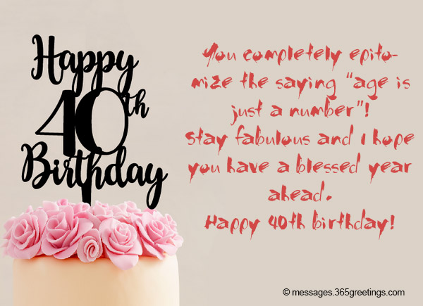 Birthday Messages For 40th Celebrant