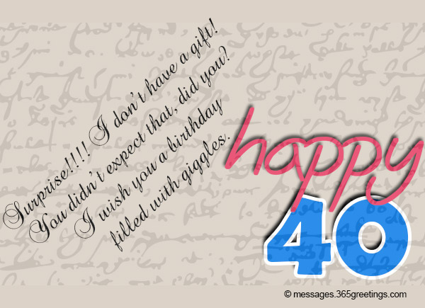 Best 40th Birthday Sayings And Messages
