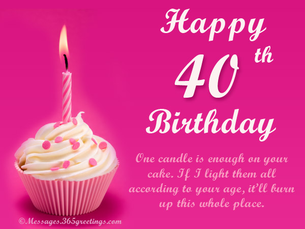 40th Birthday Wishes 365greetings – Happy 40th Birthday Card