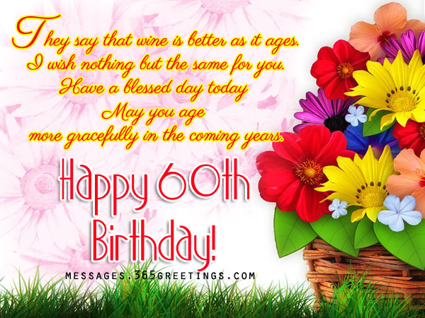 60th Birthday Wishes, Quotes and Messages - 365greetings.com