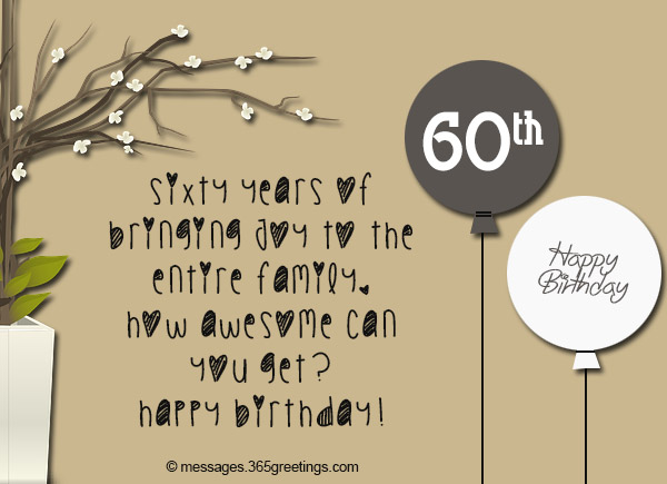 Quotes 60Th Birthday Adorable 60Th Birthday Wishes Quotes And Messages  365Greetings