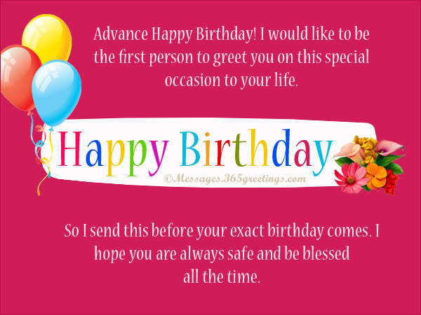 Advance happy birthday greetings for friend giftsforsubs advance birthday wishe m4hsunfo