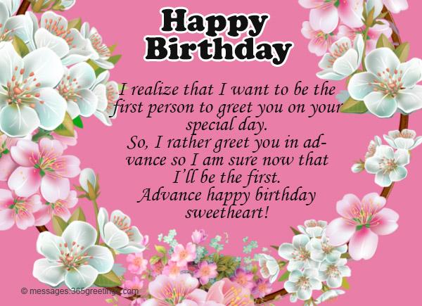Advance Birthday Wishes Message 06