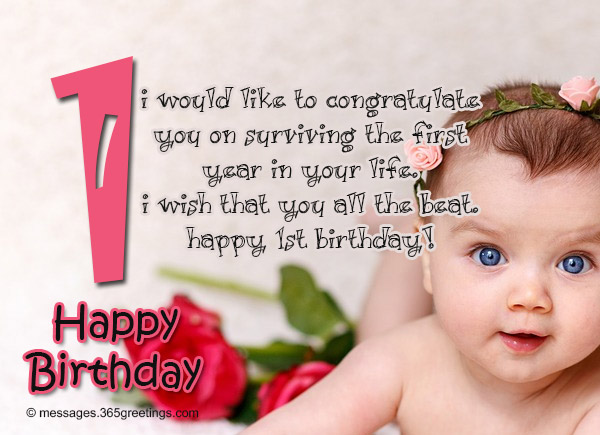 Best birthday wishes 365greetings here are some of birthday wishes that are the best for a 1st birthday celebrant since 1st year old kid cant read already this is for others to read like m4hsunfo