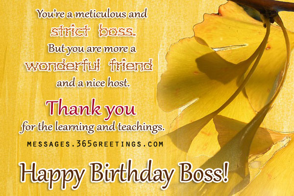 Birthday Wishes For Boss 365greetings – Happy Birthday Greetings to Boss
