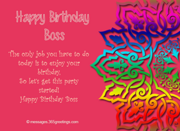 Birthday Wishes For Boss 365greetings Com