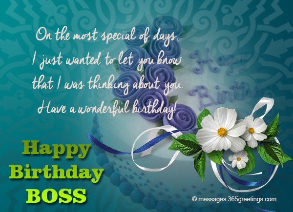 Birthday wishes for boss 365greetings.com