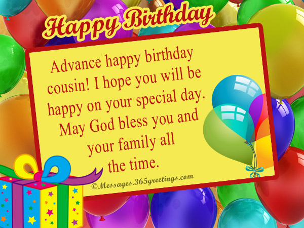 advance birthday wishes messages and greetings 365greetingscom
