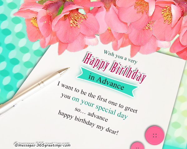 Best Advance Birthday Wishes Messages