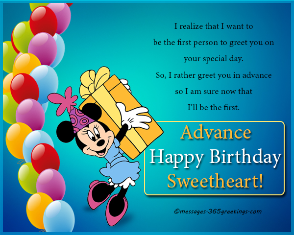 Advance birthday wishes messages and greetings 365greetings advance birthday wishes for boyfriend m4hsunfo