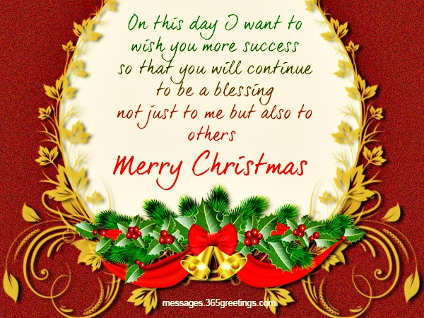 Top 100 christmas messages wishes and greetings 365greetings christian christmas card wording ideas m4hsunfo