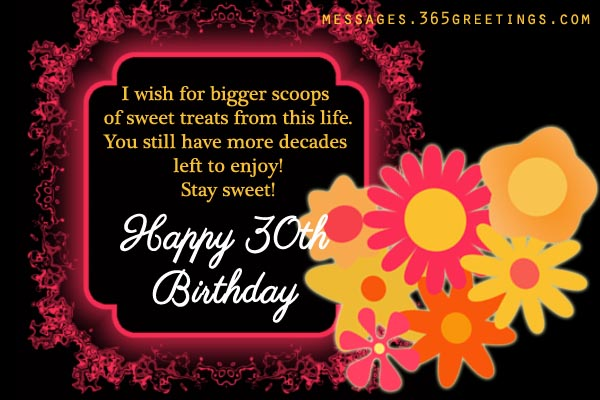 30th Birthday Wishes And Messages 365greetingscom
