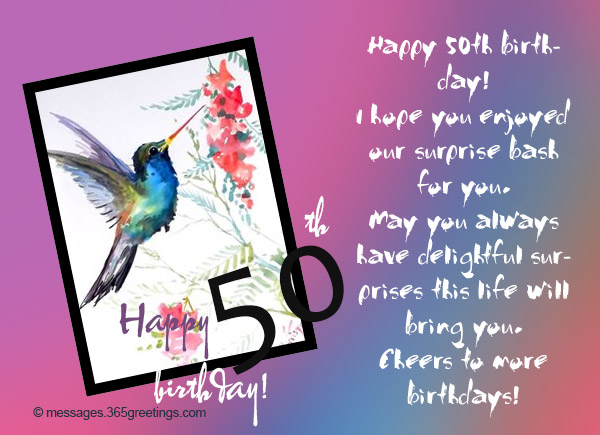 50th Birthday Wishes and Messages - 365greetings com