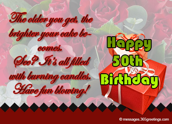 50th Birthday Wishes and Messages Messages Greetings and Wishes – Birthday Greetings for 50th Birthday