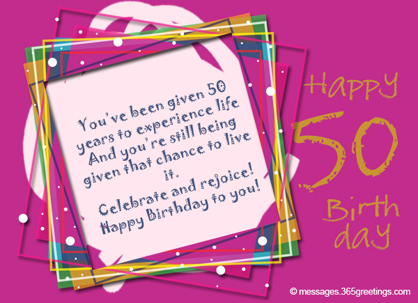 50th Birthday Wishes and Messages Messages Greetings and Wishes – 50 Years Birthday Greetings