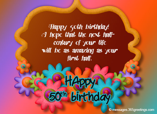 50th Birthday Wishes and Messages 365greetings – Greeting Cards for 50th Birthday
