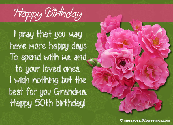 50th Birthday Wishes and Messages 365greetings – Words for a 50th Birthday Card