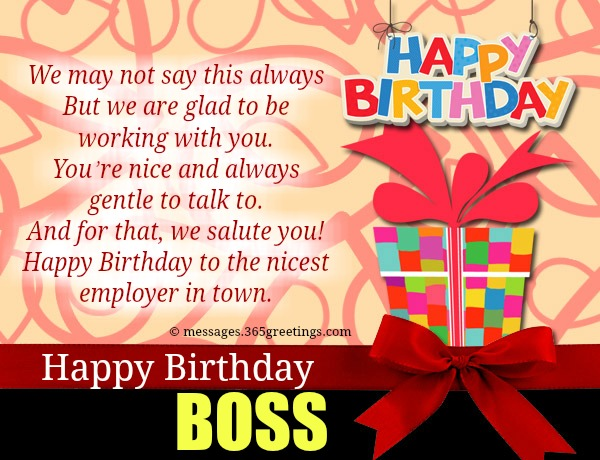 Short Birthday Wishes For Boss