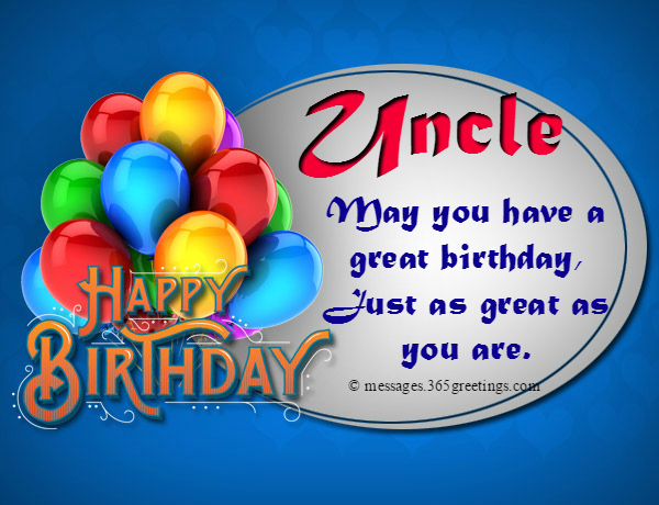 Birthday Wishes For Uncle 365greetings Com