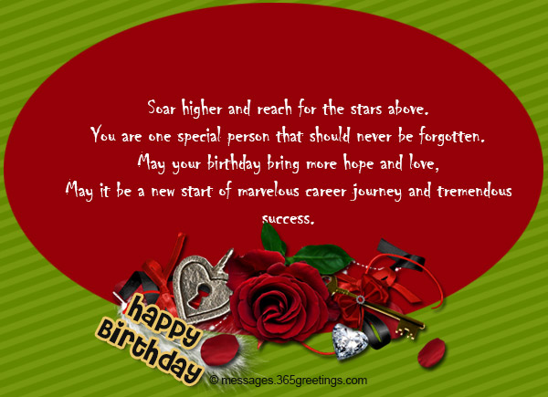 Inspirational Birthday Messages 365greetings – Inspirational Birthday Greeting