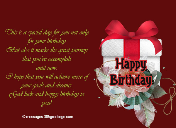 Inspirational Birthday Messages 365greetings – Inspirational Birthday Card