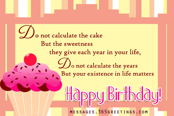 Inspirational Birthday Messages 365greetings – Birthday Text Greetings