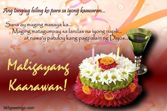 Birthday Wishes Male Cousin ~ Happy birthday in tagalog 365greetings.com