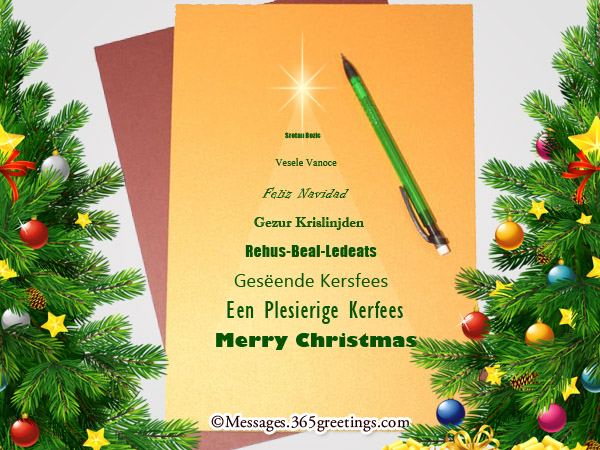 Merry Christmas In Different Languages - 365greetings.com
