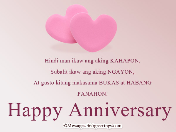 Tagalog Birthday Quotes For My Girlfriend Pin Husband Anniversary Greeting Card Th Ruby Wedding