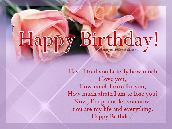 Romantic birthday wishes greetings