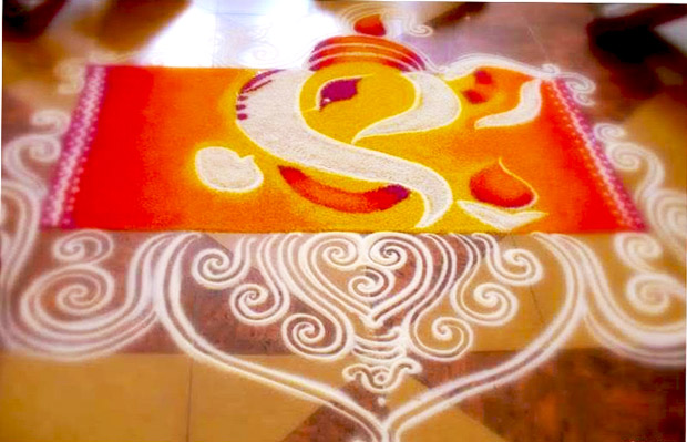 1 Rangoli With Lord Ganesha