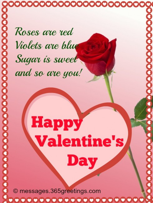 Valentines day greeting card messages for friends