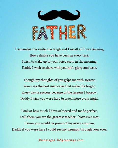 fathers day poems 7 daddy