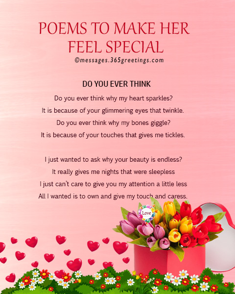 Poems to make her feel special