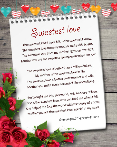 mothers day poems 6 sweetest love
